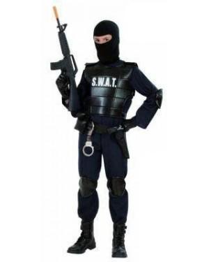 Costume Agente Swat Poliziotto 5/7 Cm 128