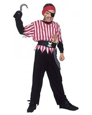 Costume Pirata 128 Cm Casacca,Pantaloni,Cintura,