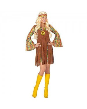 WIDMANN 06520 costume ragazza hippie xxl vestito +gilet +fascia