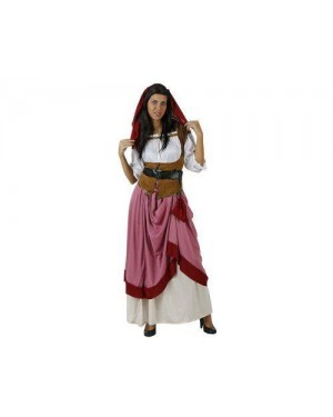 Costume Locandiera Xxl Serva Medievale Adulto T-4