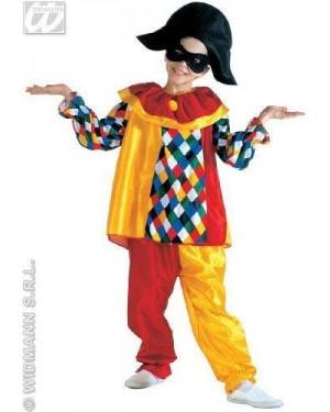 WIDMANN 38607 costume arlecchino 8/10 cm 140 clown