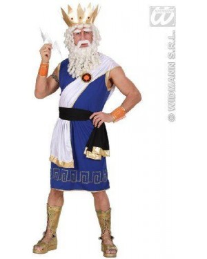 WIDMANN 73613 costume zeus l tunica,cintura,fascia,braccial