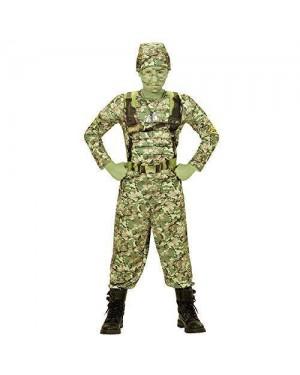Costume Soldato 8/10 Power Soldier Maglia Muscoli,