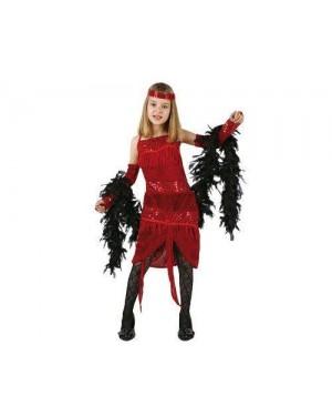 ATOSA 96586 costume charleston 10/12 anni rosso
