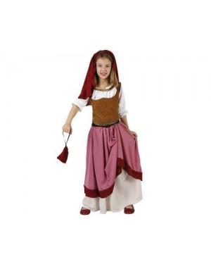 Costume Da Cameriera Rosa 7-9 Ann