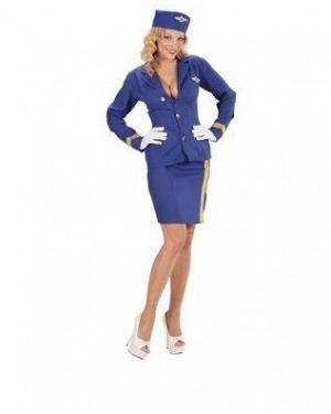 WIDMANN 06779 costume hostess blu xs