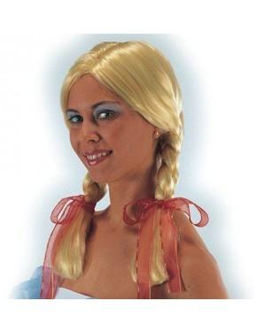 CARNIVAL TOYS 02600 parrucca bionda con trecce