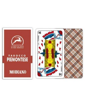 modiano 300764 carte tarocco piemontese rosso
