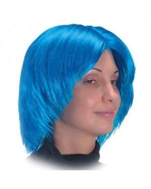 carnival toys 02375 parrucca caschetto blu little girl