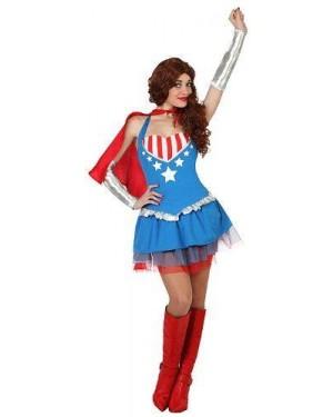 Costume Super Eroina, Adulto T1 Xs\S