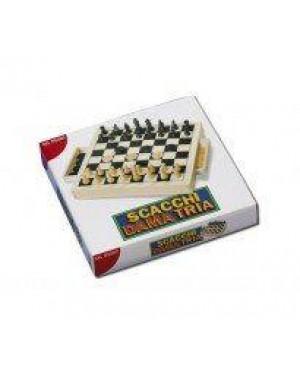 DAL NEGRO 53490 scacchi dama tria cm30 legno econom