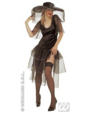 Costume Vedova Xl Allegra Con Accessori