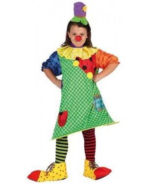 ATOSA 6741 costume da pagliaccio bambina t1 3-4 anni