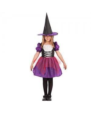 CARNIVAL TOYS 66001 costume strega bambina vi-vii +capp