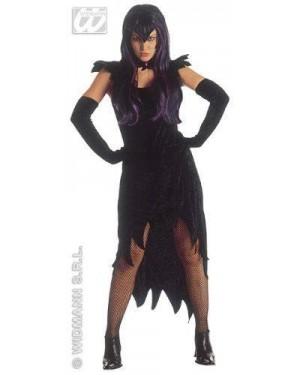 Costume Donna Dark Ciniglia + Guanti M