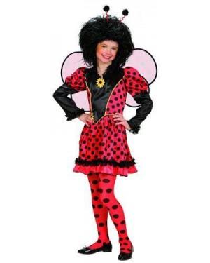 Costume Coccinella 140Cm Vestito,Ali,Antenne)
