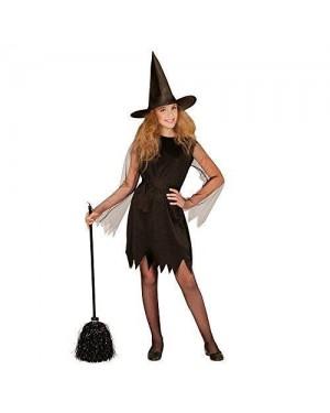 WIDMANN 00248 costume strega nero 11/13 vestito +cint +capp