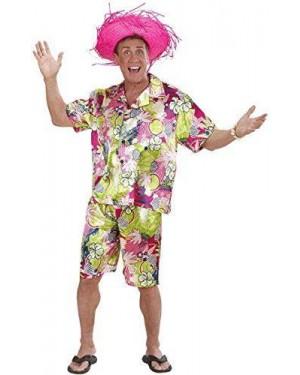 Costume Hawaiano Xl Camicia+Calzoncini