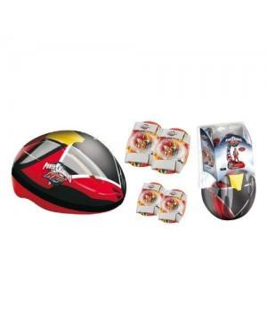 MONDO 18464 confezione casco e protezioni power rangers