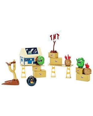 SPIN MASTER 6027799 angry birds - attacco all'isola suina playset