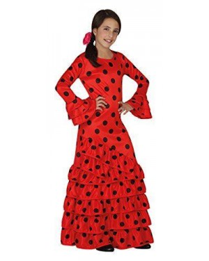 ATOSA 26532 costume flamenca rosso spagnola t-3 7/9