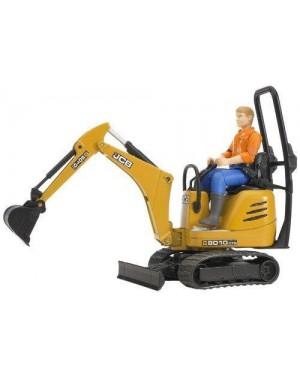bruder 62002 bruder  jcb micro escavatore 8010 cts e operaio ed