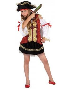 Costume Da Pirata Lusso Bambina T-2