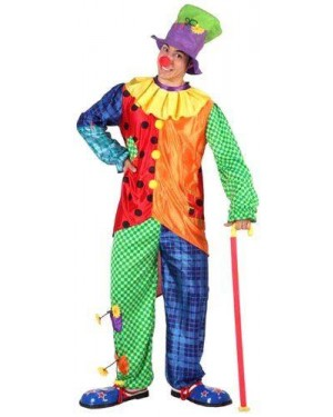 Costume Clown, Adulto, T-4.