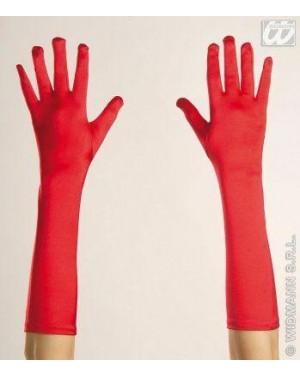 widmann 3446k guanti raso rossi elasticizzati cm 43