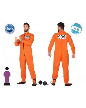 ATOSA 53977 costume carcerato arancione t-2