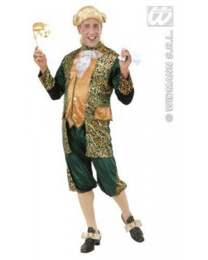 Costume Marchese Verde Xl In Velluto E Raso Ves