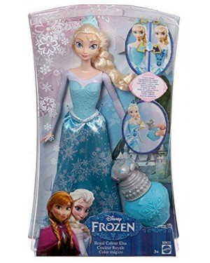 MATTEL BDK33 frozen elsa principessa dei colori #bdk31
