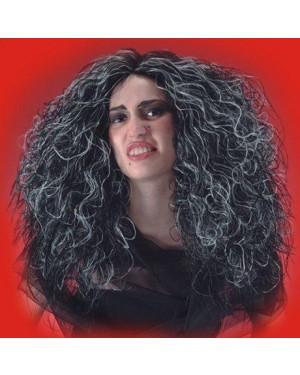 CARNIVAL TOYS 02409 parrucca strega lunga con meches grigio