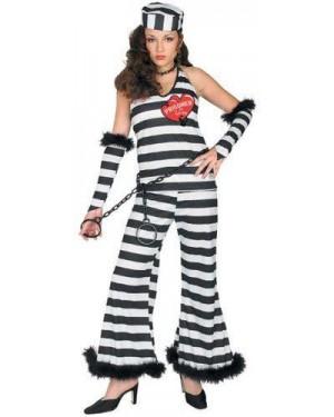 RUBIES 15145 costume carcerata donna m con catene