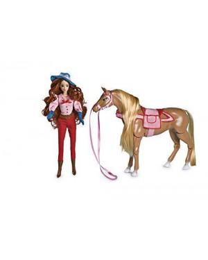 grandi giochi gg02210 sissi bambola c/cavallo da pettinare 30cm