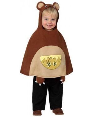 Costume Poncho Orsetto Bebe Tg Unica