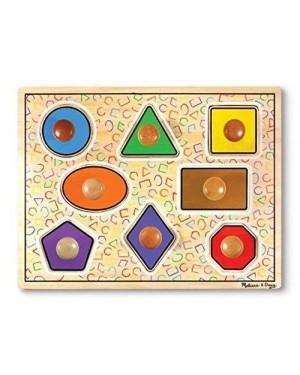 MELISSA E DOUG 13390 melissa puzzle legno pioli grandi geometrie