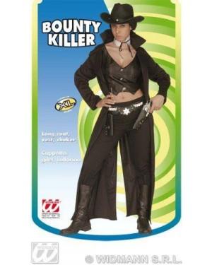 WIDMANN 3258F costume bounty killer con cappotto, gilet, collari
