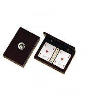 dal negro 080086 portacarte ramino legno cavallo+carte+ dadi po
