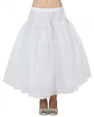 Costume Sottogonna Adulto Tg M Bianco