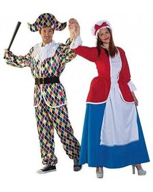 JOKER JC064-001 costume colombina l vestito+cappello
