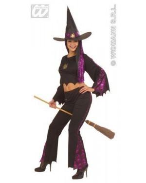 Costume Strega M Con Pantaloni E Fibre Ottiche