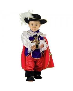 CLOWN 24106 costume baby moschettiere 6 mesi