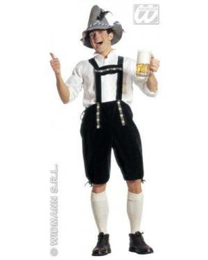 Costume Bavarese M Pantaloni Con Bretelle