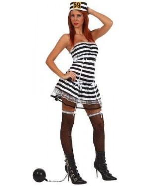 Costume Carcerata Sexy , Adulto T-3