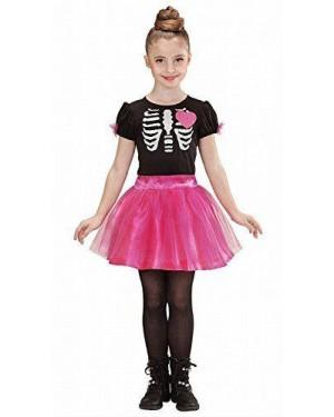 WIDMANN 02217 costume scheletro ballerina rosa 8/10