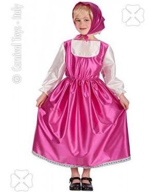 Costume Masha 3 Anni Abito+Fazzoletto