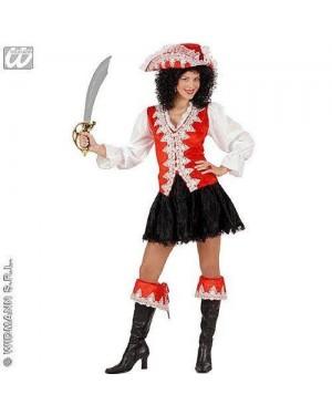 WIDMANN 57972 costume piratessa regale rossa m