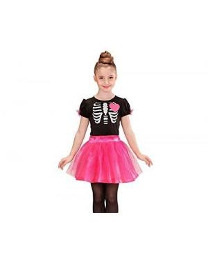 WIDMANN 02218 costume scheletro ballerina rosa 11/13