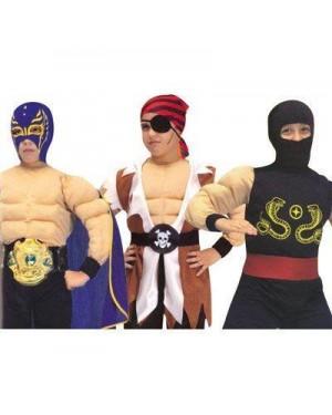 CIAO 10080 costume tre in uno muscoli 4-6 anni